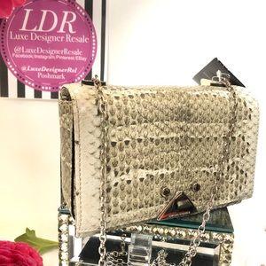 New EMPORIO ARMANI Python Leather Handbag